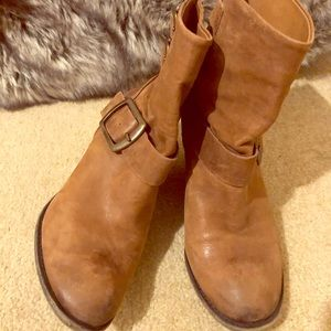 Lucky Brand Tommie Leather Ankle Boots